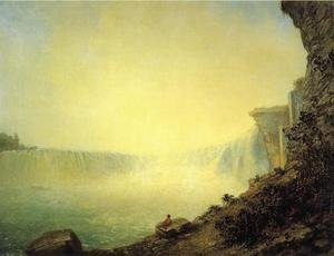 Reproduction oil paintings - Rembrandt Peale - The Canadian Side of Niagara Falls, Platform Rock
