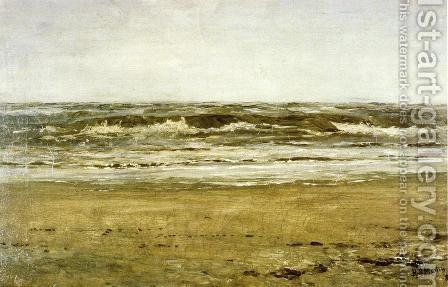 The Sea at Villerville by Homer Dodge Martin - Reproduction Oil Painting