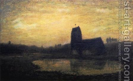 Criqueboeuf Church by Homer Dodge Martin - Reproduction Oil Painting