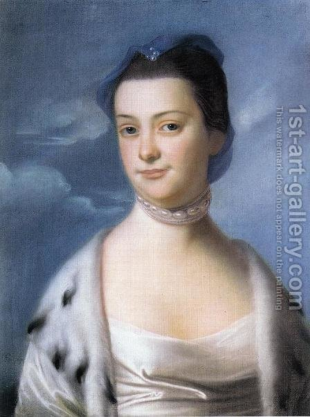Mrs. William Turner (Ann Dumaresq) by John Singleton Copley - Reproduction Oil Painting