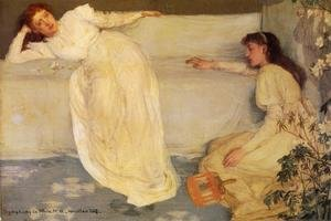 Reproduction oil paintings - James Abbott McNeill Whistler - Symphony in White, No. 3