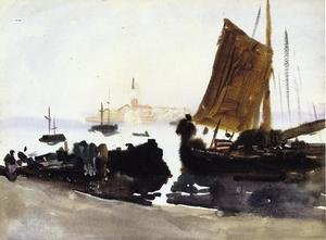 Reproduction oil paintings - Sargent - Venice, Sailing Boat