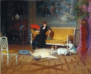 Reproduction oil paintings - William Lippincott - Afternoon Tea