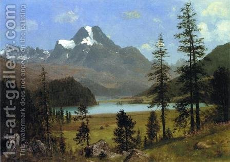 Long's Peak, Estes Park, Colorado by Albert Bierstadt - Reproduction Oil Painting