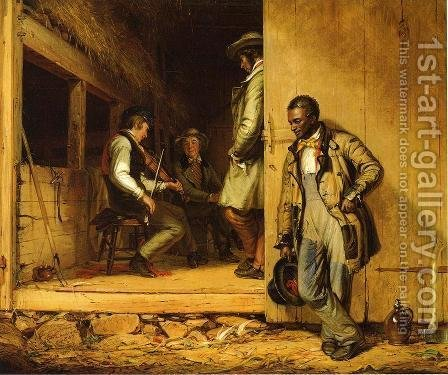 William Sidney Mount: The Power of Music - reproduction oil painting