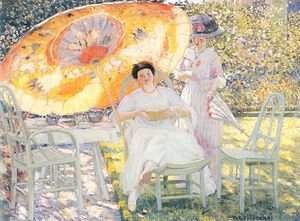 Famous paintings of Furniture: The Garden Parasol