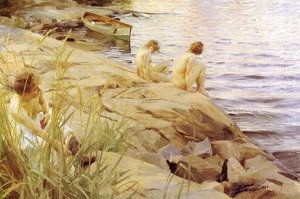 Reproduction oil paintings - Anders Zorn - Out