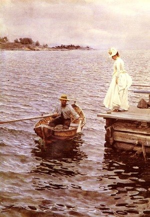 Reproduction oil paintings - Anders Zorn - Summer Fun