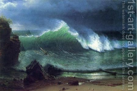 Emerald Sea by Albert Bierstadt - Reproduction Oil Painting