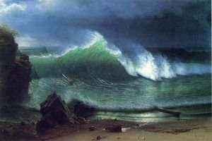 Famous paintings of Clouds & Skyscapes: Emerald Sea