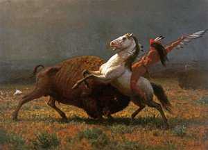 Reproduction oil paintings - Albert Bierstadt - The Last of the Buffalo II