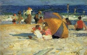 Famous paintings of Parasols and Umbrellas: Beach Umbrella