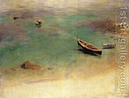 A Boat in the Waters off Capri by Sargent - Reproduction Oil Painting