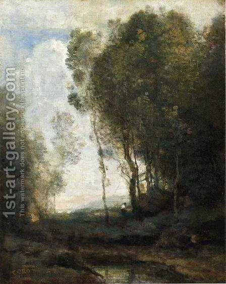 Jean-Baptiste-Camille Corot: The Edge of the Forest - reproduction oil painting