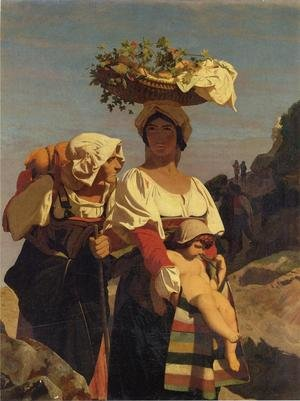 Reproduction oil paintings - Jean-Léon Gérôme - Two Italian Peasant Women and an Infant