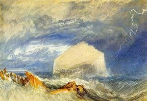"Reproduction oil paintings - Turner - The Bass Rock (for ""The Provincial Antiquitiies of Scotland"")"