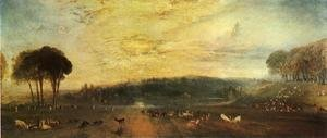 Reproduction oil paintings - Turner - The Lake, Petworth: sunset, fighting bucks