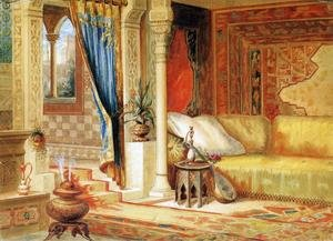 Famous paintings of Furniture: Turkish Room Theater Curtain Sketch