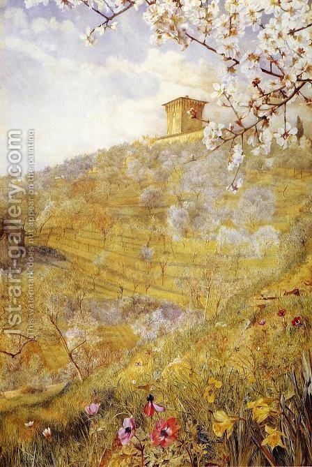 The Villa di Bellosguardo by Henry Roderick Newman - Reproduction Oil Painting