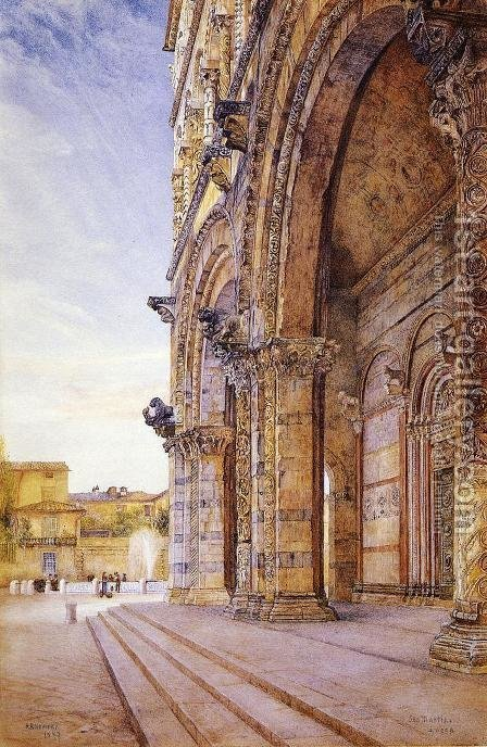 San Martino, Lucca by Henry Roderick Newman - Reproduction Oil Painting