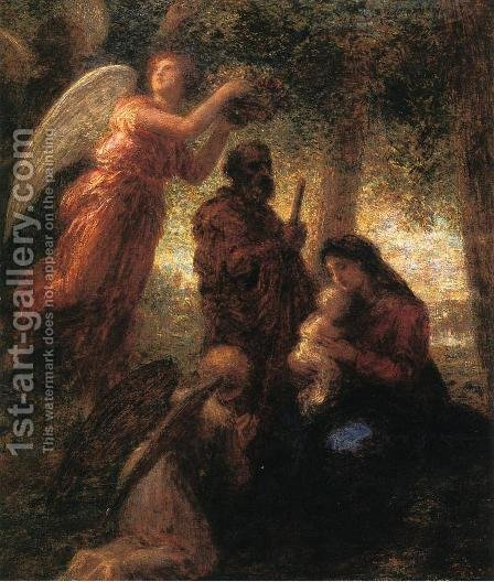 The Birth of Christ by Ignace Henri Jean Fantin-Latour - Reproduction Oil Painting
