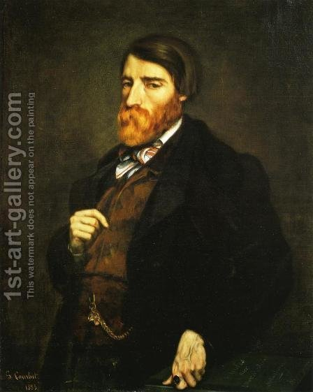 Portrait of Alfred Bruyas I by Gustave Courbet - Reproduction Oil Painting