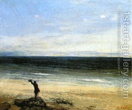 The Beach at Palavas by Gustave Courbet - Reproduction Oil Painting