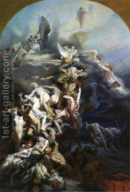 Heaven and Hell by Octave Tassaert - Reproduction Oil Painting