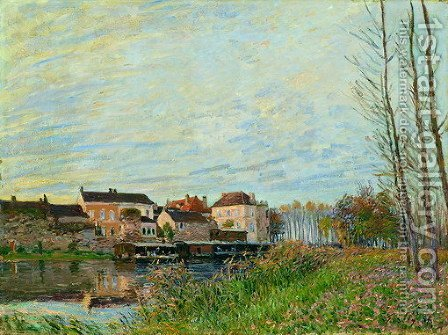 Evening in Moret, End of October by Alfred Sisley - Reproduction Oil Painting