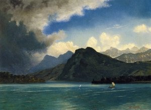 Reproduction oil paintings - Albert Bierstadt - Approaching Storm