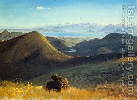 Mono-Lake, Sierra Nevada, California, 1872 by Albert Bierstadt - Reproduction Oil Painting