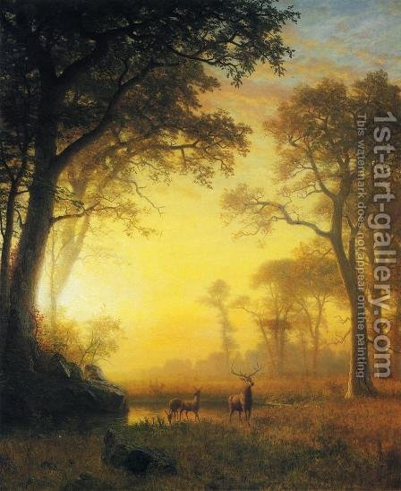 Light in the Forest by Albert Bierstadt - Reproduction Oil Painting