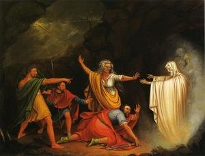 Famous paintings of Nature Spirits: Saul and the Witch of Endor