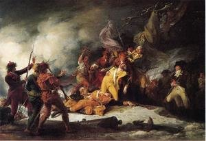 Famous paintings of Clouds & Skyscapes: The Death of General Montgomery in the Attack on Quebec, December 31, 1775