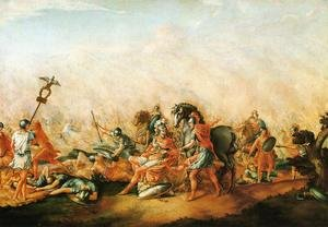 Famous paintings of Horses & Horse Riding: The Death of paulus Aemilius at the Battle of Cannae