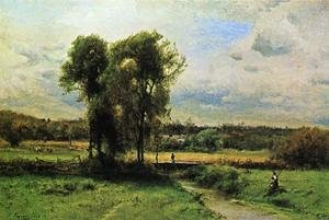 Reproduction oil paintings - George Inness - Landscape with Figures