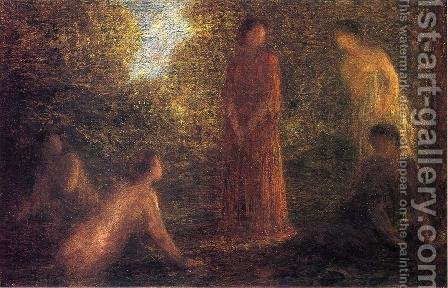 Bathers II by Ignace Henri Jean Fantin-Latour - Reproduction Oil Painting