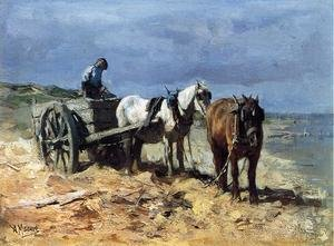 Reproduction oil paintings - Anton Mauve - A Team and Pull-cart