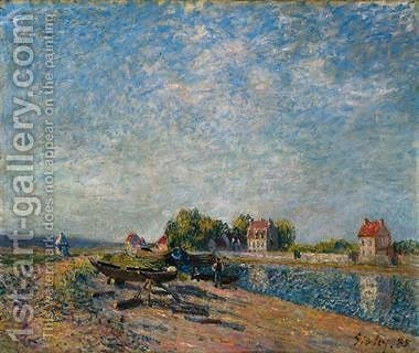 Saint-Mammes, Loing Canal by Alfred Sisley - Reproduction Oil Painting