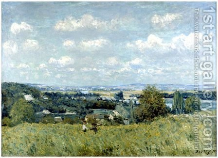 Valley of the Seine at Saint-Cloud by Alfred Sisley - Reproduction Oil Painting