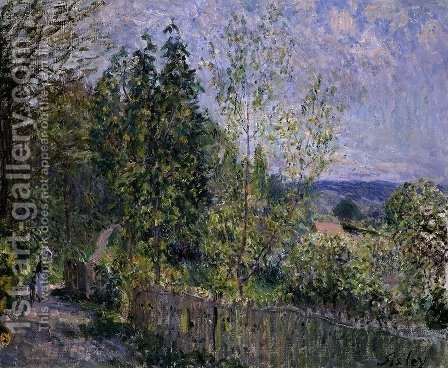 The Road in the Woods by Alfred Sisley - Reproduction Oil Painting