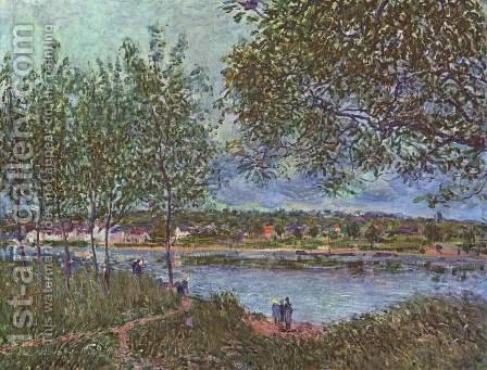 The Path to the old Ferry at By by Alfred Sisley - Reproduction Oil Painting
