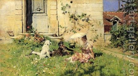 Spring by Giovanni Boldini - Reproduction Oil Painting