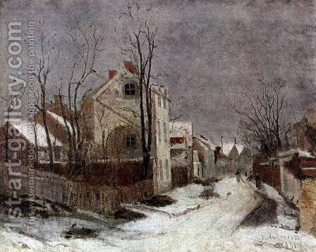 Winter in Barbizon by Ion Andreescu - Reproduction Oil Painting