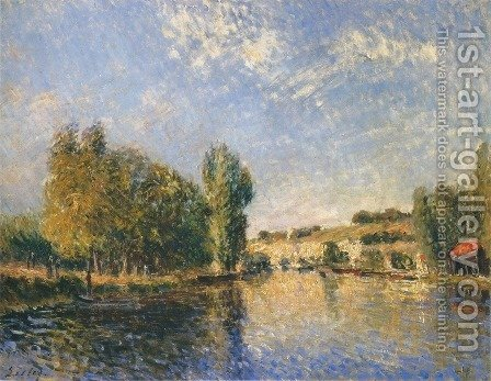 The Loing at Moret I by Alfred Sisley - Reproduction Oil Painting