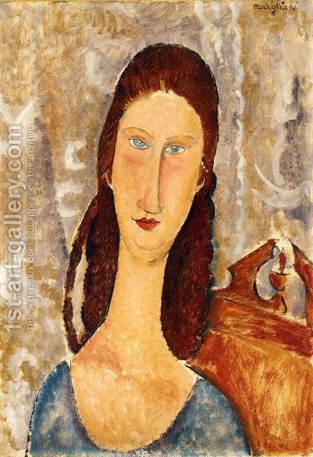 Portrait of Jeanne Hebuterne IV by Amedeo Modigliani - Reproduction Oil Painting