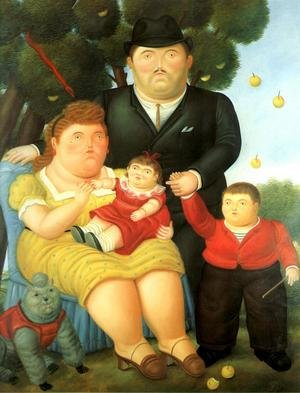 Reproduction oil paintings - Fernando Botero - A Family I