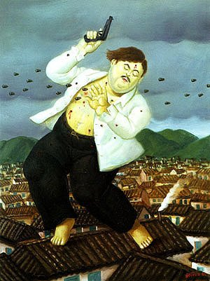 Reproduction oil paintings - Fernando Botero - Death of Pablo Escobar