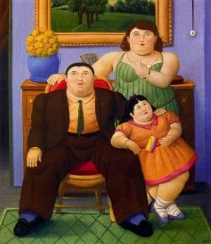 Famous paintings of Furniture: Familia Colombiana