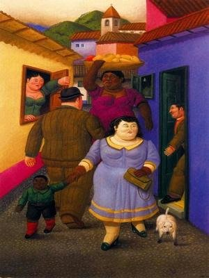 Reproduction oil paintings - Fernando Botero - La Calle
